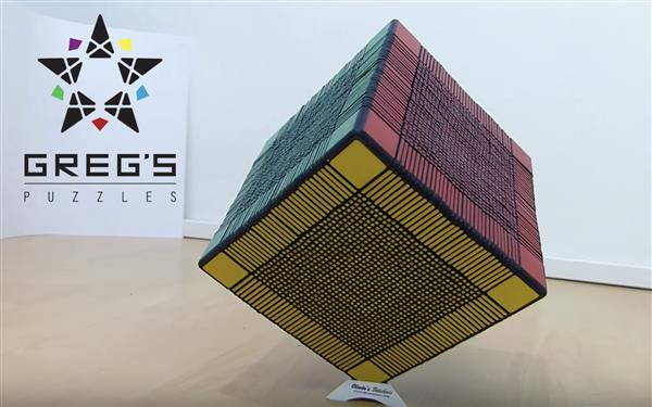 Инженер напечатал на 3D-принтере кубик Рубика из 6153 деталей (+ видео)